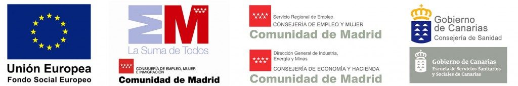 Colaboradores de la Escuela de Formación Labora ESCALA  - Fondo Social Europeo - Gobierno de Madrid - Gobierno de Canarias